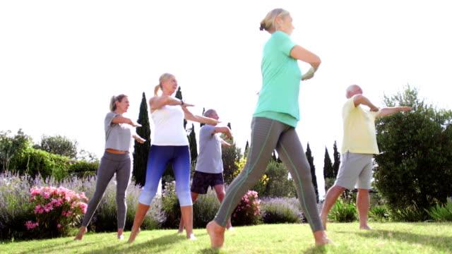 Senior Yoga Class Outdoors video