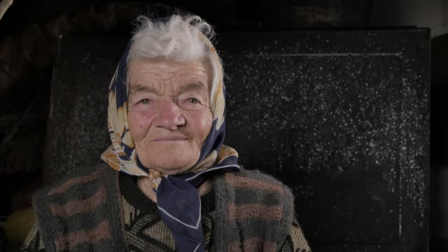 Seniors at Home, Real People 4K. Portrait, Senior Adult, Smiling,Human Face, Senior Adult, 80-89 Years, Adult, Adults Only, eastern europe stock videos & royalty-free footage