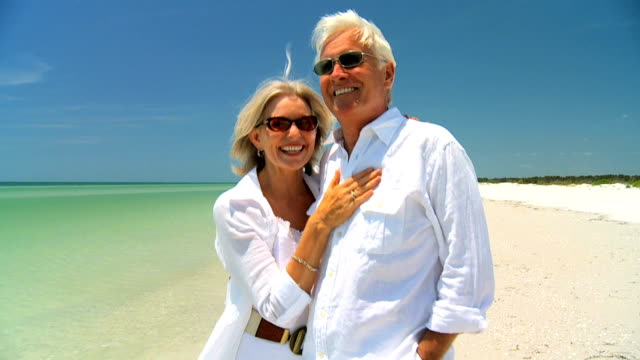 seniors beach lifestyle - frugal lifestyle stock videos and b-roll footage