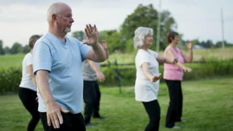 vídeos y material grabado en eventos de stock de personas mayores que trabajan - actividades recreativas