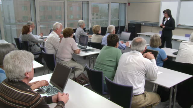 HD DOLLY: Seniors Participating Computer Lessons video