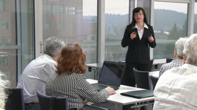 HD: Seniors Participating Computer Lessons video