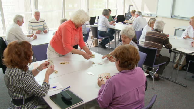HD DOLLY: Seniors Playing Cards video
