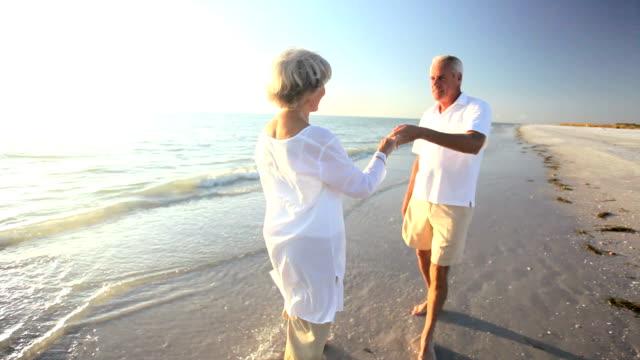Seniors Romantic Beach Dancing video