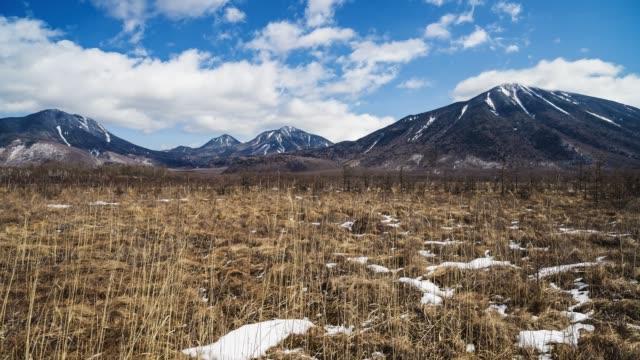 冬の千城ヶ原と南方山(タイムラプス) ビデオ