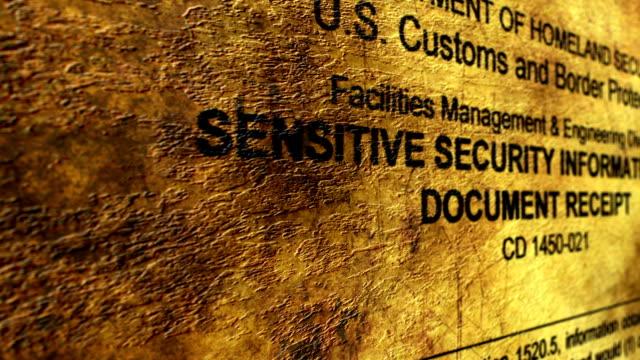 機密情報のセキュリティ - クラシファイド広告点の映像素材/bロール