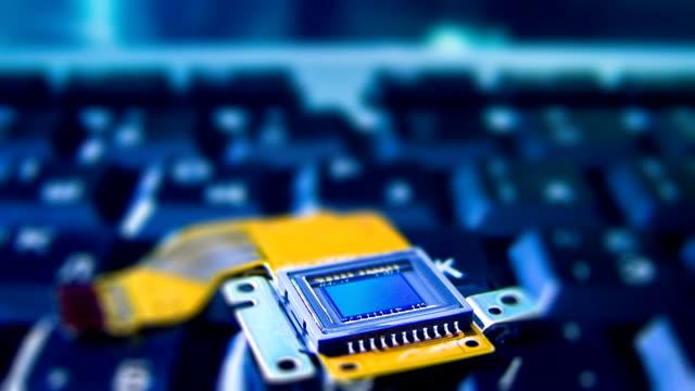 ccd センサー、キーボードのタイムラプス - センサー点の映像素材/bロール