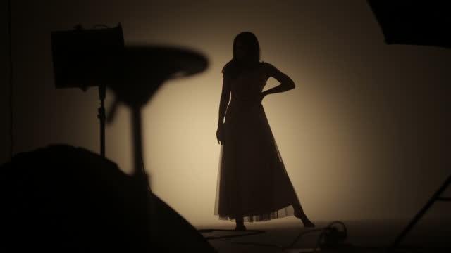Sensual beautiful women posing in studio
