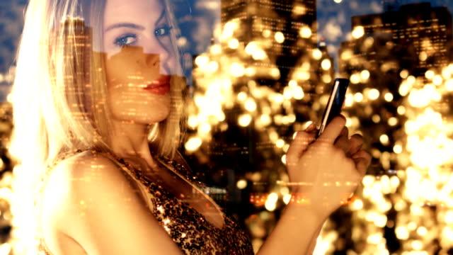 Sensual Blond Girl in Nightclub. New Years Eve video