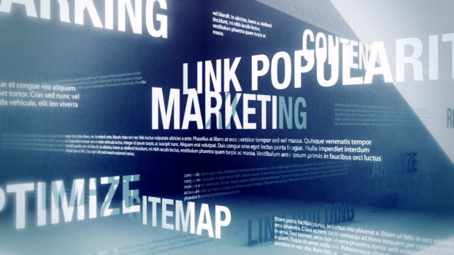 SEO/Internet Marketing Related Words Loop Looping animation with words and concepts related to search engine optimization and internet marketing sliding and crossing one another in an abstract but elegant looking environment. HD, NTSC and PAL versions are available. digital marketing stock videos & royalty-free footage
