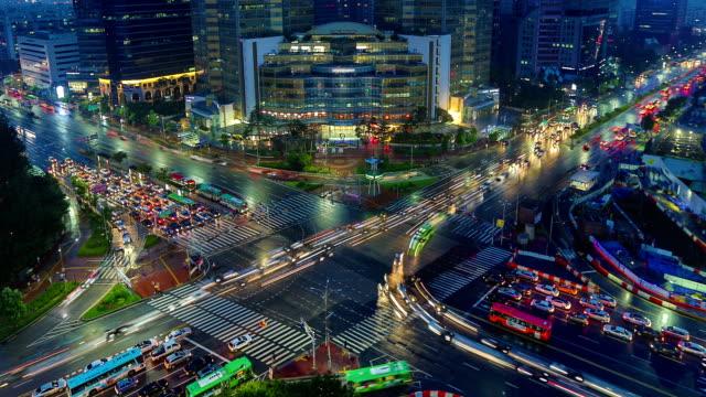 seoul città zoom - corea del sud video stock e b–roll