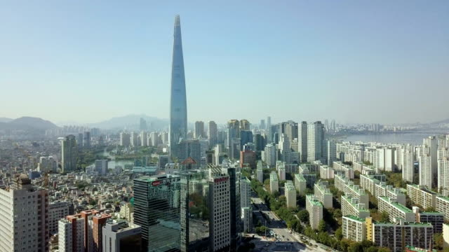 vídeos de stock, filmes e b-roll de vista da cidade de seul - coreia