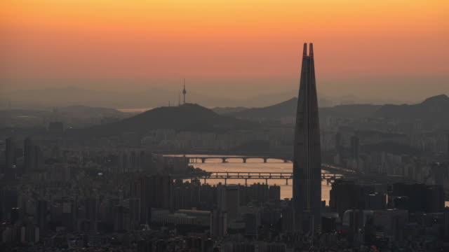 vídeos y material grabado en eventos de stock de seoul korea - n seoul tower