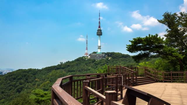 vídeos y material grabado en eventos de stock de n seoul tower  - n seoul tower