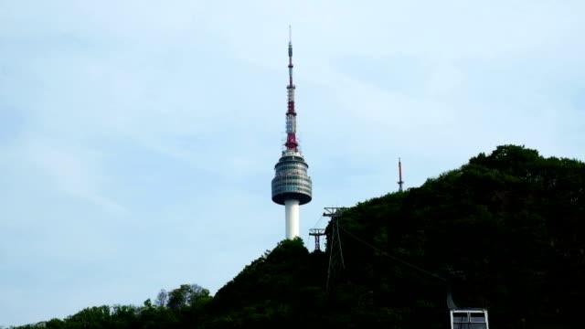 vídeos y material grabado en eventos de stock de torre de seúl con cable car - n seoul tower