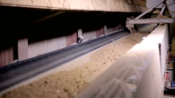 Separation Of Soil Grounf Soil Going Up On Conveyor Belt At A Mining  Factory Stock Video & More Clips of Box - Container