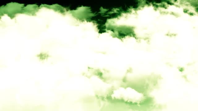 Sepia Sky Clouds Flight Through video