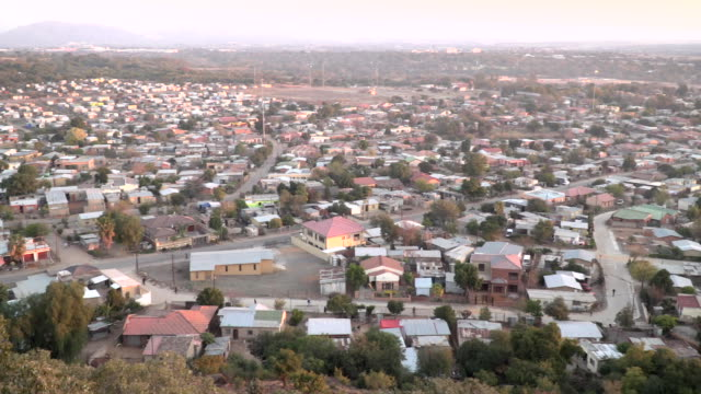 sequence of shots of township in south africa video