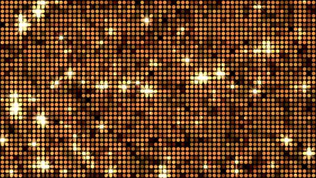 Sequins or reflectors background gold video