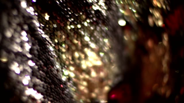 Sequins Blinking sequins in light sequin stock videos & royalty-free footage