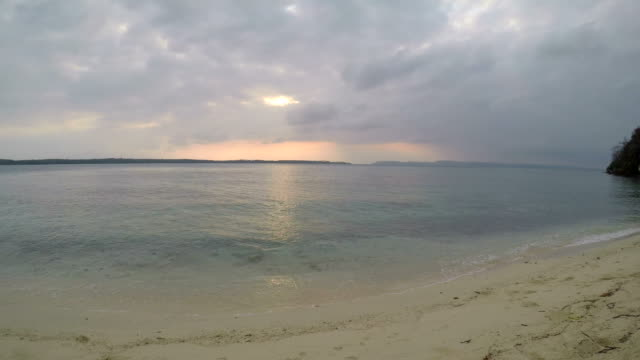 Serene Beach on the Islands at Sunrise video