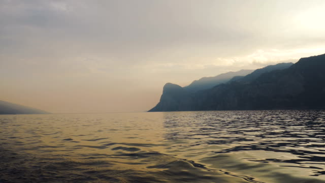 Serene Lake Garda Waters at Sunset video
