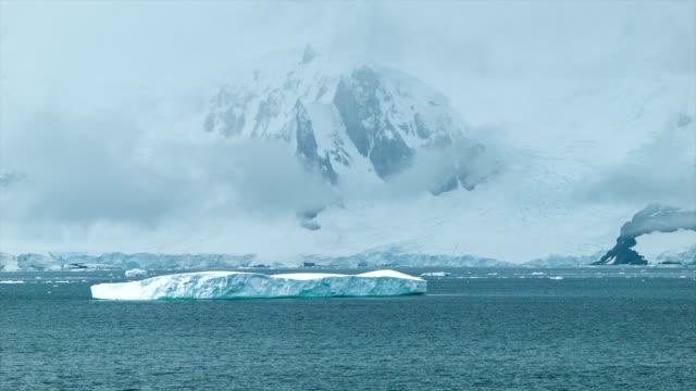 穏やかな自然の風景、南極 ビデオ