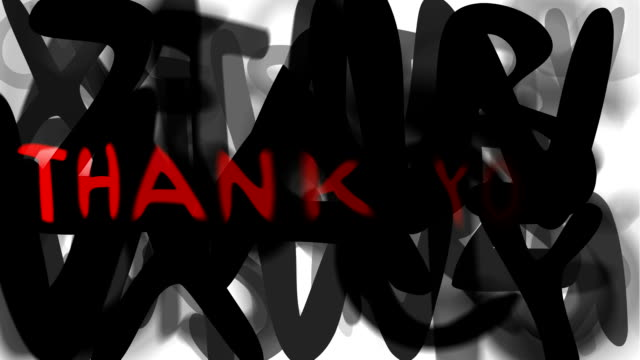 """thank you : series """"assemble your message"""" (loop) - thank you background 個影片檔及 b 捲影像"""