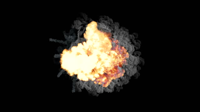 A series of colorful explosions, shock waves and smoke-filled clubs Dynamic composition of a series of bright colorful explosions, shock waves and smoke clubs filling spaces bomb stock videos & royalty-free footage
