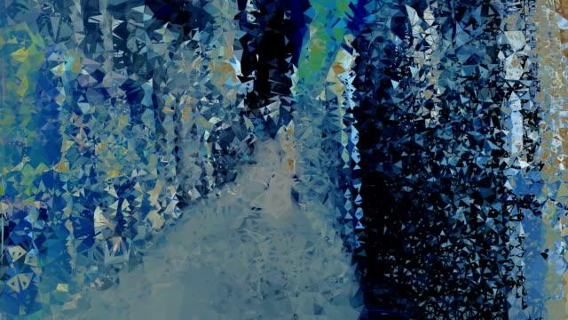 series transcendental fields : from italian alleyway, dark (TRANSITION)