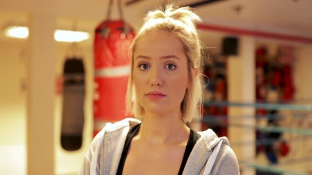 Serious Woman Boxer