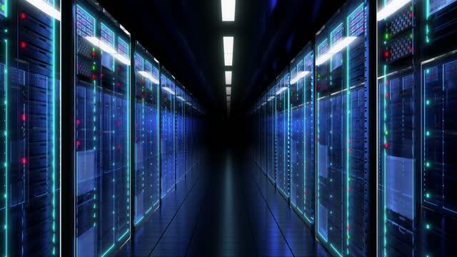 vídeos de stock, filmes e b-roll de sala do servidor - resolução 4k - computação em nuvem