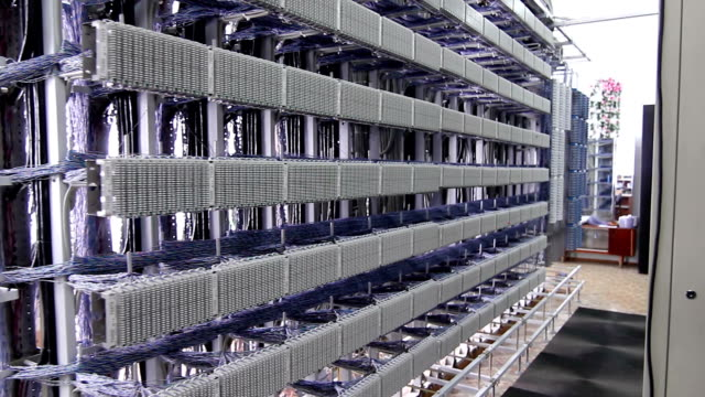 Server room filled with racks video