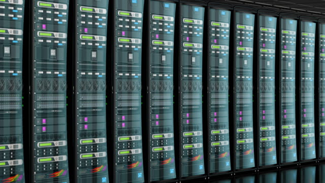 serverrum i datacenter, animering. 3d-rendering - server room bildbanksvideor och videomaterial från bakom kulisserna