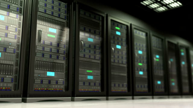 server room 3d animation of server room camera panning server room stock videos & royalty-free footage