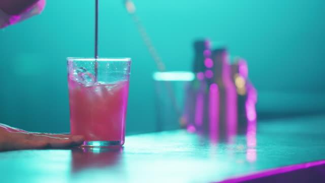 Serving Cocktail 4K video