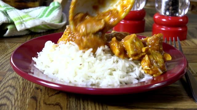 カレー料理鶏 ビデオ