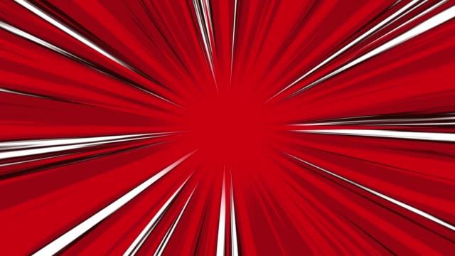set von 3 zentrierten anime speed lines cartoon animated loops. - held stock-videos und b-roll-filmmaterial