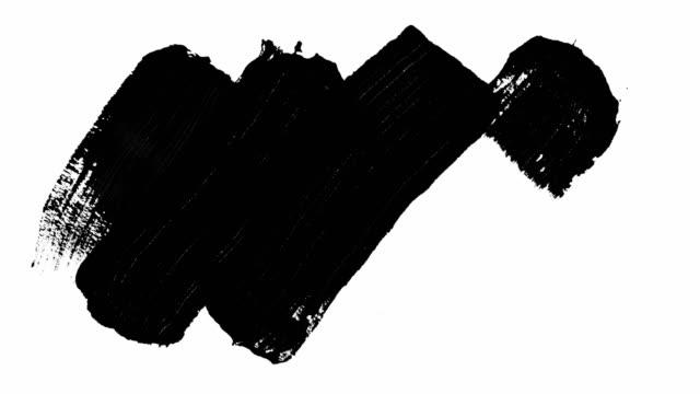 vidéos et rushes de lot de 3 transitions de brosse de peinture pour les mattes et superpositions de luma. - pinceau