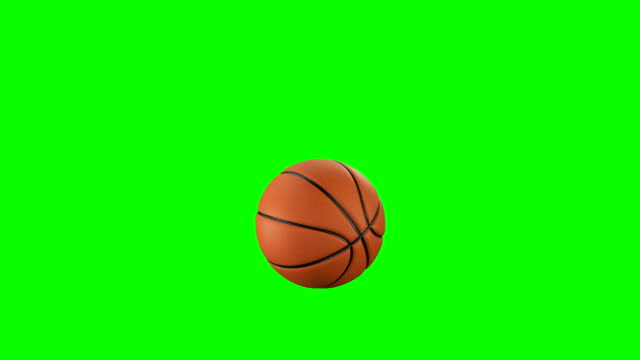 set of 4 videos. beautiful basketball ball throws in slow motion on green screen. basketball 3d animations of flying ball. 4k uhd 3840x2160. - basketball stock videos and b-roll footage