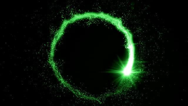 Set of 5 particle transition wipe - green video