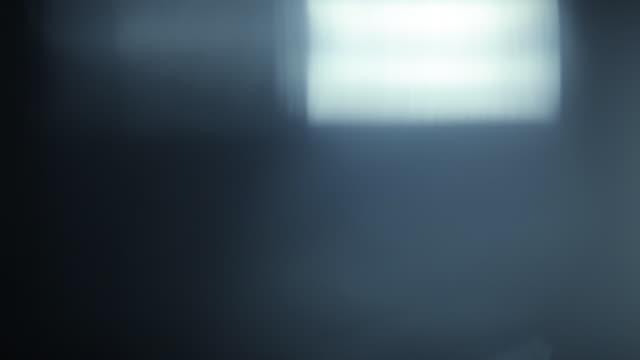 vidéos et rushes de ensemble de fuites de lumière belles superposition effet film - verre optique