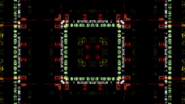 satz von farbe-nummern - symmetrie stock-videos und b-roll-filmmaterial