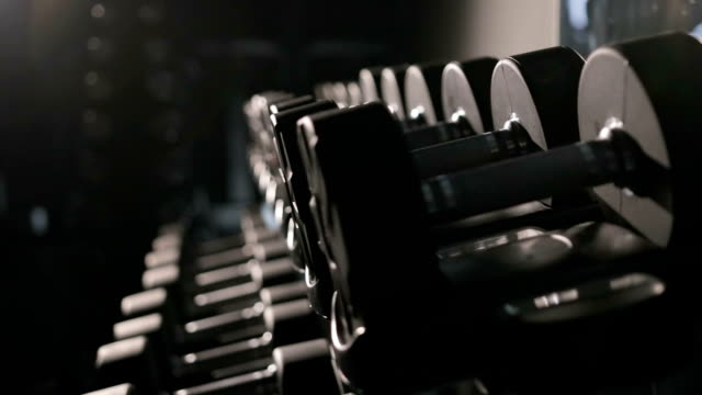 Set of dumbbells of different sizen