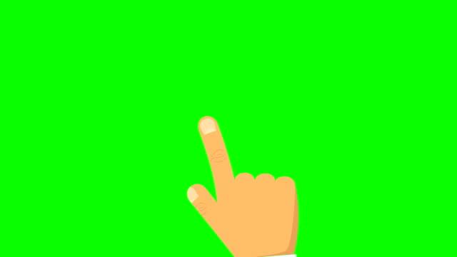 手のジェスチャー、タッチ スクリーン コンピューター、タブレット、トラック パッド オプション ルミナンス マットとアニメーションの使用方法を示すのセットです。アルファのルミナンス マットが含まれています。4 k ビデオ - 指点の映像素材/bロール