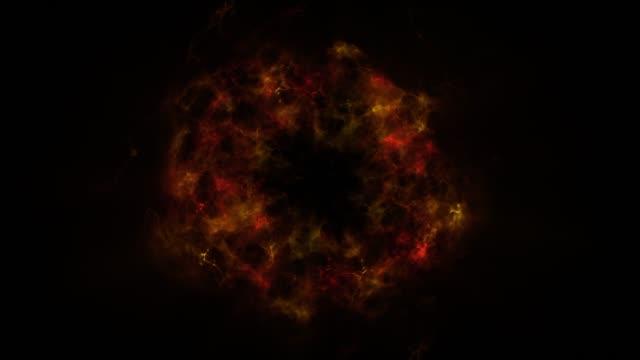 zestaw dziesięciu kolorowych fal uderzeniowych składających się z cząstek. elementów vfx. elementy graficzne. światła świecą, świecą przez chmury, kurz, mgławice przestrzeni kosmicznej. zapętlanie animacji 3d 4k - paranormalny filmów i materiałów b-roll