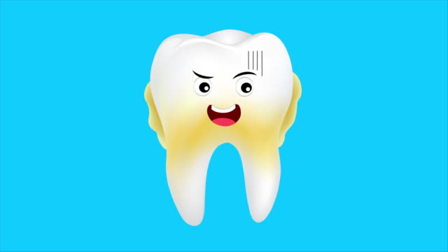 Set of unhealthy tooth character.