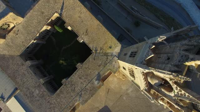 seu vella de lleida - castillo - lleida stok videoları ve detay görüntü çekimi