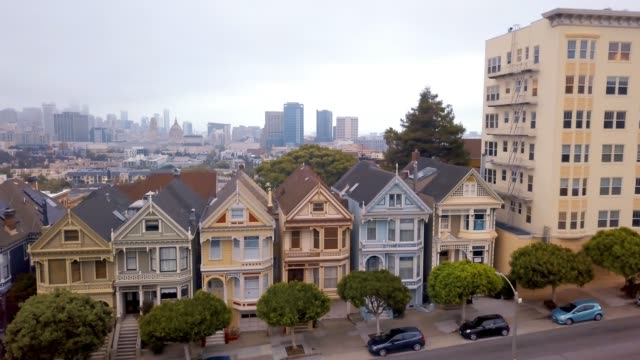 seven sisters houses in san francisco - victorian architecture stock videos & royalty-free footage