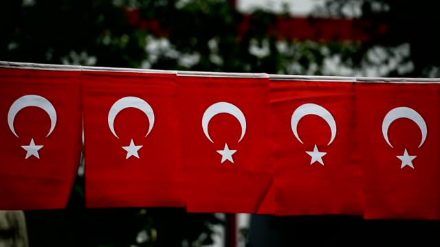 flera turkiet flaggor ses under landets nationaldag - kanvas bildbanksvideor och videomaterial från bakom kulisserna